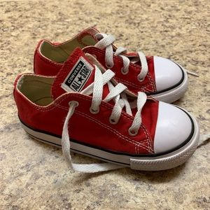 Toddler Red Converse size 9c